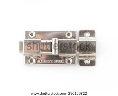 latch isolated on white background - stock photo