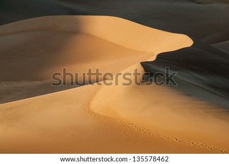 Late Afternoon at The Great Sand Dunes National Park, Colorado, USA - stock photo