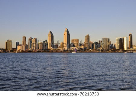 Late afternoon in San Diego - stock photo