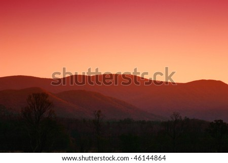 Late day in Cades Cove. Great Smoky Mountains National Park - stock photo