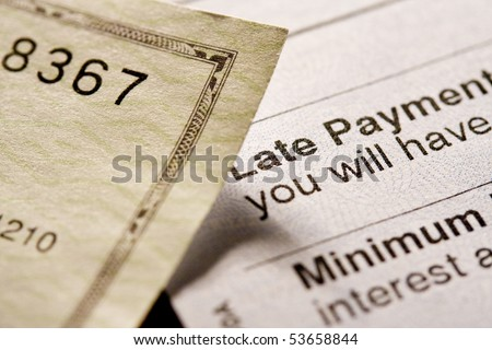 Late payment. Shot with shallow depth of field. - stock photo