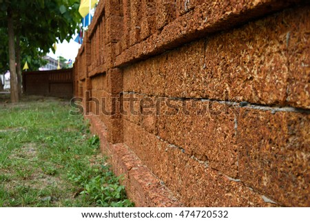 Laterite stone fence