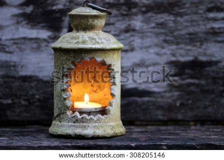 laterns in the evening - stock photo