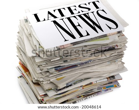 Latest news - stock photo