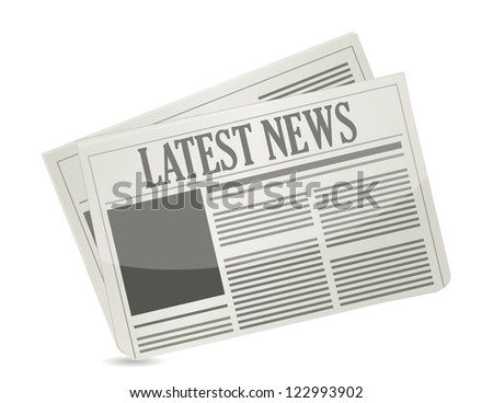 Latest news concept illustration design over a white background - stock photo