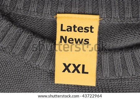 latest news xxl concept with label or tag