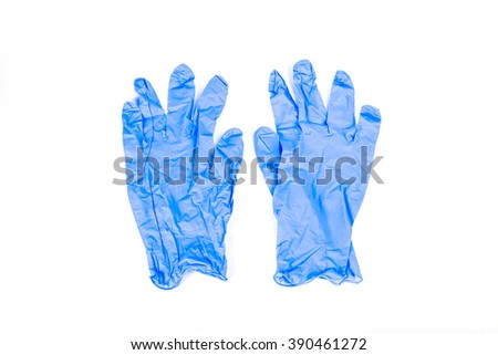 Latex gloves isolated