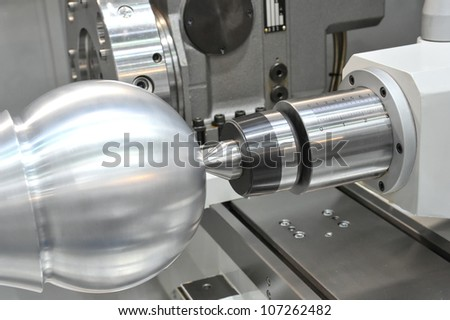 Lathe, CNC - stock photo