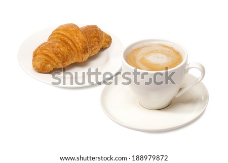 latte and croissant