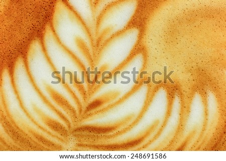 Latte art coffee  - stock photo