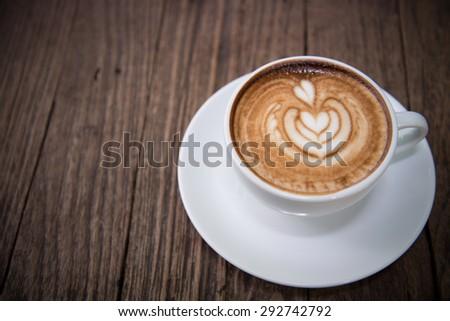 latte art coffee - stock photo
