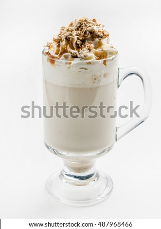 latte with whipped cream