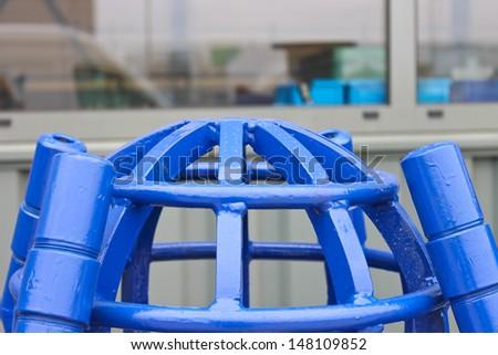 Lattice filter nozzles pump dredger - stock photo