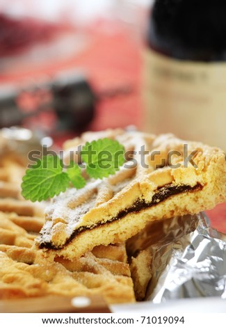 Lattice topped tart - stock photo
