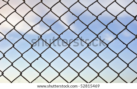 Lattice with sky on background