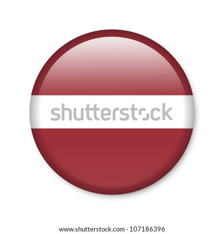 Latvia - glossy button with flag
