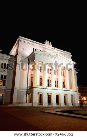 Latvian National Opera in Riga - stock photo