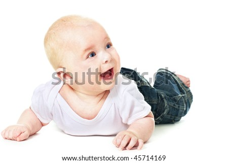 laughing baby 4 month old