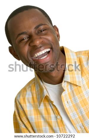 Laughing Black Man - stock photo