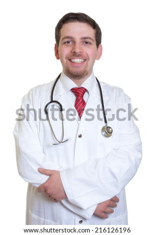 Laughing doctor looking at camera
