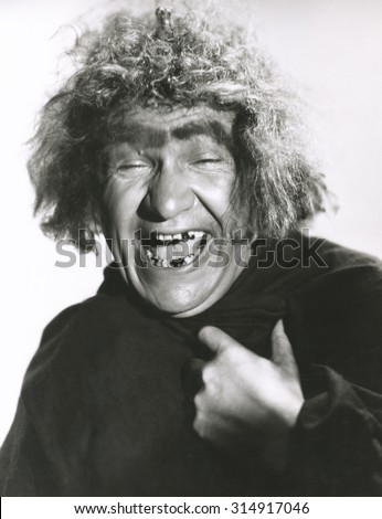 Laughing monster - stock photo