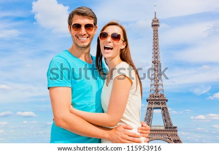 laughing tourist - stock photo
