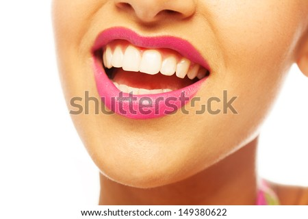 Laughing woman smile with great teeth
