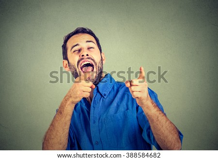Laughing young man - stock photo