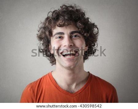 Laughing young man