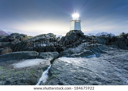 Laukvik Lighthous on the lofoten islands, norway