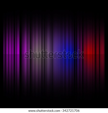 Launched colorful lines, isolated on background, 3D render