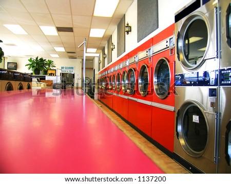 Laundromat - stock photo