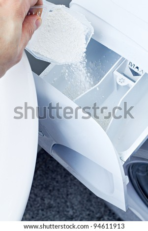 laundry detergent clothes washer - stock photo