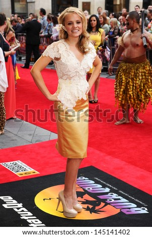 "Laura Aikman arrives for the ""Bula Quo"" premiere at the Odeon West End, Leicester Square, London. 01/07/2013"