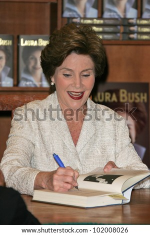 "Laura Bush at a book signing for 'Spoken From The Heart,"" Vromans, Pasadena, CA. 05-11-10"