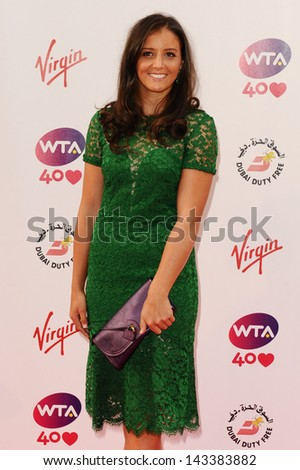 Laura Robson arriving for the WTA Pre-Wimbledon Party 2013 at the Kensington Roof Gardens, London. 20/06/2013 - stock photo