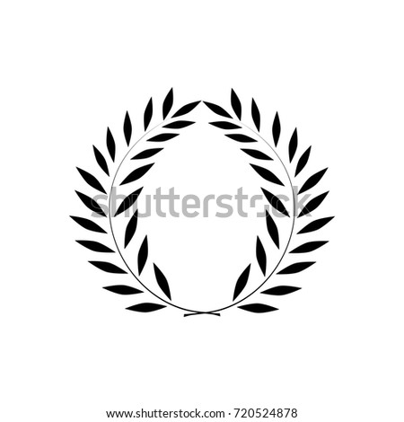 Laurel Wreath Reward Modern Symbol Victory Stock Illustration