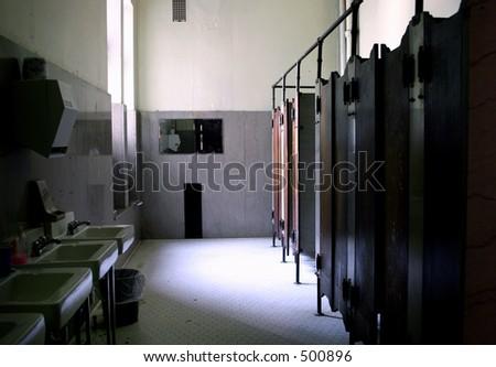 Lavatory at school - stock photo