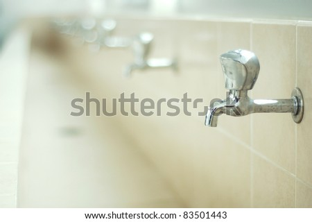 Lavatory Faucet in the bathroom for design