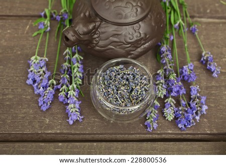 Lavender and flower lavender tea