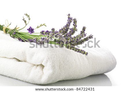 Lavender flowers concept spa and beauty - stock photo