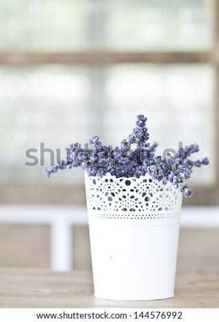 Lavender - rustic decoration - stock photo