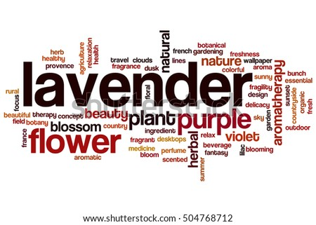 Lavender word cloud concept