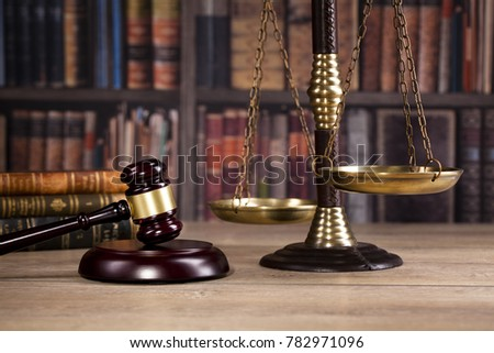 Law and justice concept. Legal office