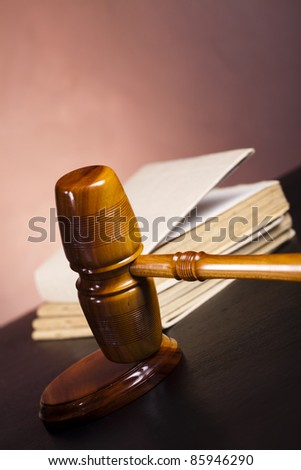 Law and justice concept, Wooden gavel barrister
