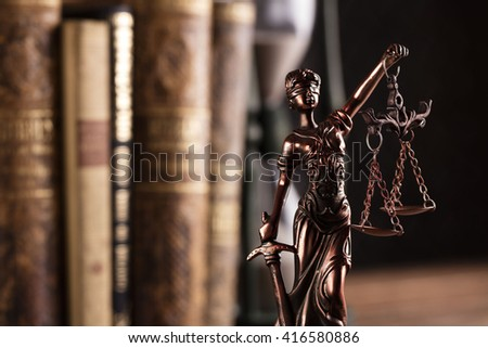 law and justice theme - stock photo
