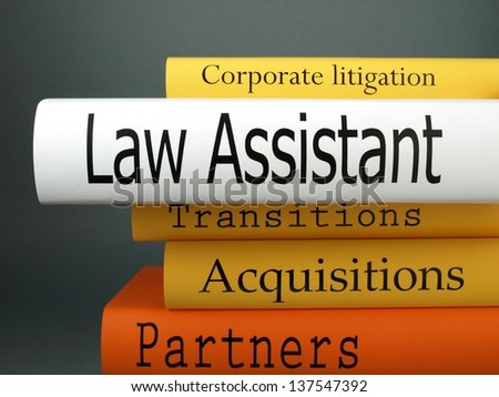 Law assistant (book titles) - stock photo