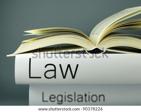 Law (book titles) - stock photo