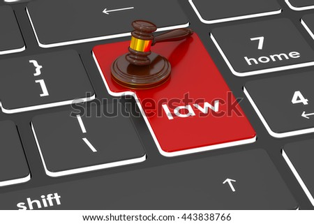 Law concept, 3D rendering - stock photo