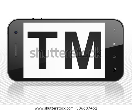 Law concept: Smartphone with Trademark on display - stock photo